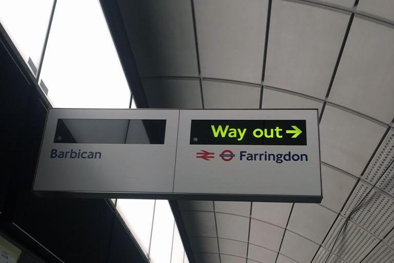Steve Garrard Limited - Elizabeth line sign